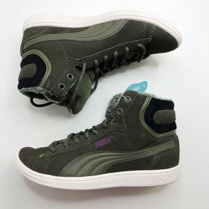 [PUMA] Vikky Mid Lace Up Sneakers